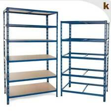 Regalsystem Blau | Steckregal | Schwerlastregal | Regal für Lager/Werkstatt