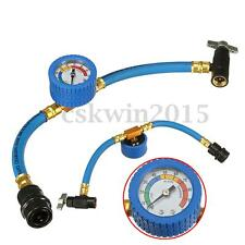 R-134a Recharge A/C Conditioning Refrigerant Measuring Gauge Hose with Can Tap
