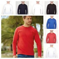 Fruit of the Loom Long Sleeve Value T-Shirt Cotton Mens in 6 Colours New XXL