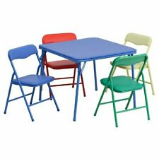 Kids Table And Chair Set Folding Chairs For Girls Boys Children Rooms Toddlers
