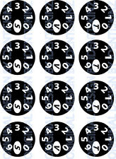 SET OF 12  dial decals Black Background for the Delkim TXI PLUS EV