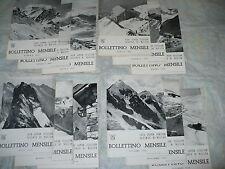 CLUB ALPINO ITALIANO SEZIONE DI MILANO BOLLETTINO MENSILE 1953 ANNATA COMPLETA