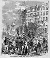 SCHUTZENFEST PROCESSION PASSING THROUGH UNION SQUARE NEW YORK GERMAN PARADE