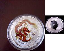 2012 Australia 1/2oz Silver Color  50 C-Year of the Dragon