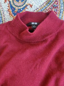 Uniqlo Red Mock Neck Wool Jumper