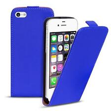 Flip Case Apple iPhone 4 4S Hülle Pu Leder Klapphülle Handy Tasche Cover Blau