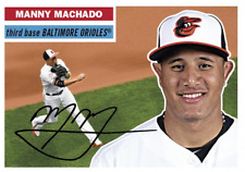 Manny Machado 2017 Topps TBT #72 from Set 12 Players Shine w/ Bat-Glove Orioles