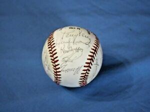 1989 Cincinnati Reds team autographed baseball 28 sigs with Larkin, Perez, Rijo