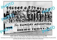 OLD 8x6 PHOTO ADVERTISER BEACH GIRL QUEST c1955 ADELAIDE SOUTH AUSTRALIA
