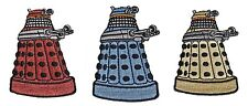 "Doctor Who Set of 3 (Red, Blue & Yellow) Daleks 3"" Tall Embroidered Patches"
