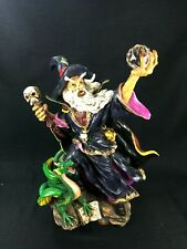 Wizard Holding Crystal Ball with Dragon Veronese '99 Rare Large Statue 18""