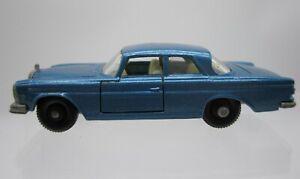 Vtg 1960s Matchbox Lesney #46 Mercedes 300 SE Metallic Blue BPW Regular Wheels