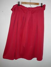 New Asos Curve Pink Pleated A-Line Skirt W/ Belt Sz US 16 Thick Knit Minor Flaw