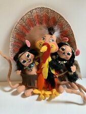 Annalee Dolls Fall Thanksgiving Decor Let's Talk Turkey Dressed Mice 2007