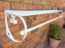 125cm Wall Clothes Shelf Rail Rack Bath Wardrobe Fashion Shop Home DRW002 WHITE
