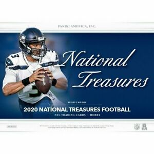 RAIDERS 2020 National Treasures Football 4 BOX Hobby Case TEAM Break #4