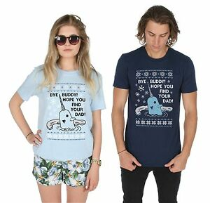Bye Buddy Hope You Find Your Dad Christmas T-shirt Top Xmas Ugly Funny Elf