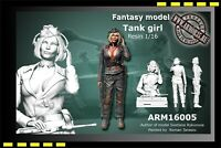 Free Shipping ARM resin model figure 1/16 German Tank Girl Fantasy model