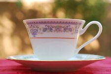 "Lenox Oxford Fine Bone China FONTAINE Tea Cup & Saucer Set 2 3/4"" - USA - New"