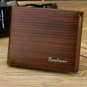 Men's Casual Leather Bifold Wallet ID Credit Card Holder Billfold Purse