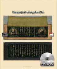 Manuscript of a Mongolian Sūtra manuscripts 1889 AD