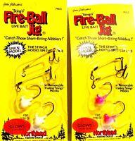Northland 1/16 oz Glows in the Dark Sinking FireBall Stingr Jigs ( One Package )