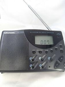 Grundig Yacht Boy 320 YB 320 World Receiver Radio FM MW SW Portable Clock TImer