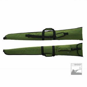 UKShootWarehouse Padded Shotgun / Rifle Gun Slip Cover Case Bag Green + Pocket