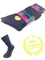6 Pairs Men's 100% Cotton quality Luxury Black socks size 6 - 11 uk seller