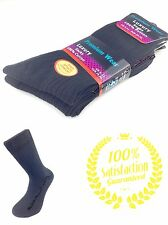 6 Pairs Men's 100% Cotton quality Luxury Black socks size 6 - 11 uk seller