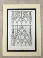 1857 Antik Architektur Aufdruck Gravierung France Meaux Kathedrale Gothic Stein