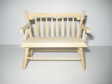 Dollhouse Miniature Unfinished Deacon Bench 1:12 Scale Furniture