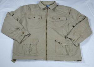 Kirra Mens Lined Khaki Jacket Sz L