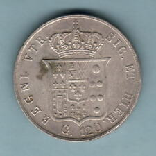 New listing Italy - Naples & Sicily. 1857 120 Grana. Much Lustre - gEf/aUnc