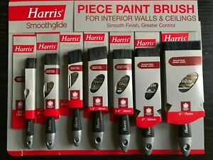 HARRIS  Smoothglide Quality  Painting Brushes with soft grip handle NEW