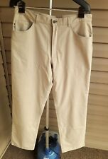 "Alberto ""Tom""  Jeans Cut Pants 33 x 31  Polyester Cotton Elastane Tan Stretch"