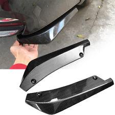 2x Carbon Fiber Car Rear Bumper Chassis Lip Diffuser Splitter Canard Protector