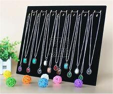AU SELLER - Velvet 28 Necklace Bracelet Jewelry Chain Display Holder Stand Neck