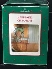 Vintage 1988 Hallmark Betsey Clark Glass Home for Christmas Series Tree Ornament