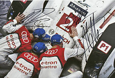 Lotterer, Treluyer, Fässler Audi Joest Hand Signed Photo 12x8 Le Mans.