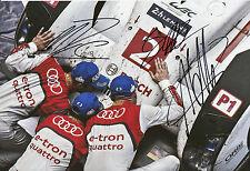 Lotterer, Treluyer, Fässler Audi Joest Hand Signed Photo 12x8 Le Mans.