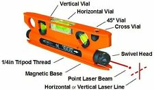Geo-Fennel LinePointer - Torpedo Spirit Level with Laser Spot and Laser Line