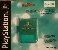 Sony PS1, PSONE, PLAYSTATION 1 Memory Card SCPH-1020 1 MB BRAND NEW (GREEN)