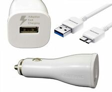 Original Samsung 2amp Fast Car Charger + 3.0 Usb Sync Cable Para Galaxy S4 / Note 3