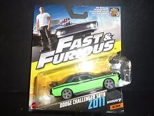hot wheels tren Challenger SRT8 2011 Verde FAST AND FURIOUS 1/55