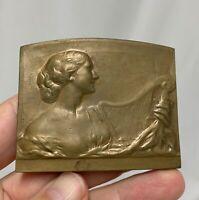 Belgium 1913 Gent International Exposition Bronze Plaque Medal - 81291
