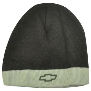 BEANIE KNIT HAT CAP CHEVROLET CHEVY RACING RIFLE GREEN