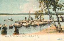 C-1905 Boat Landing Canobie Lake Park New Hampshire Rotograph postcard 9572