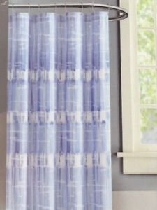 Vince Camuto Fabric Shower Curtain - Nantucket Blue