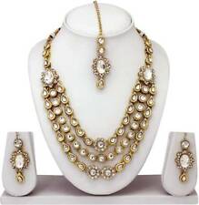 Ethnic Indian Tribal Gold Tone Necklace Earring Belly Dance Costume Jewelry Set